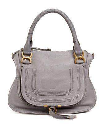Marcie Medium Shoulder Bag, Gray by Chloe at Bergdorf Goodman.