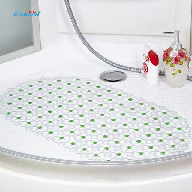Ouneed Non Slip Bath Tub Mat Clear Safety Floor Shower Long Pad