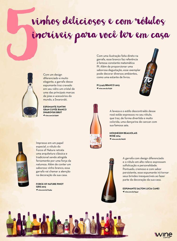 Essa é para aqueles que adoram uma boa decoração. Além de degustar um ótimo vinho, você também vai se apaixonar pelo rótulo! ;) #wine #vinho #decor #arte