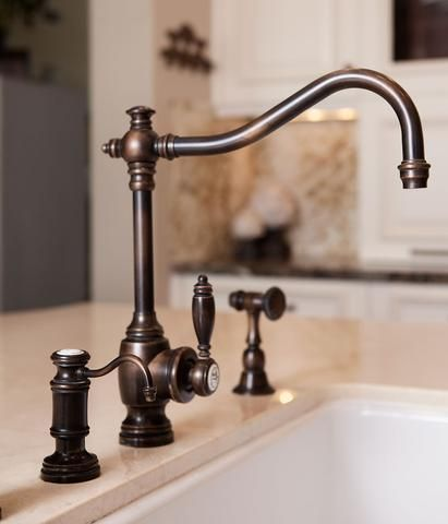 bridge faucet suite with lever handles