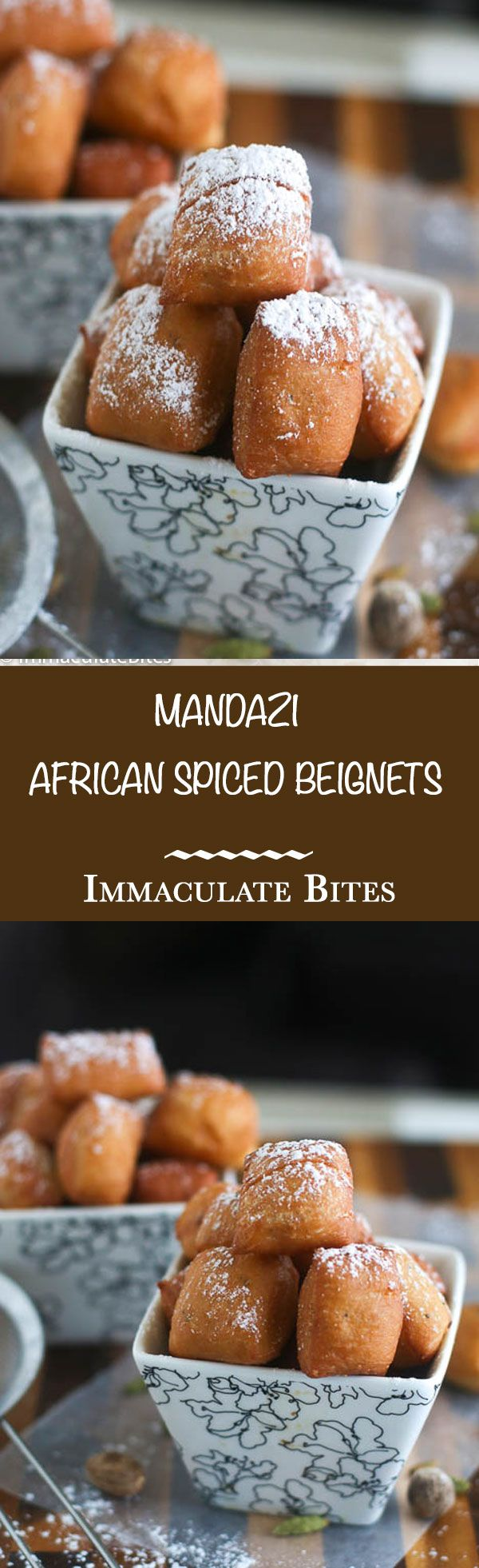 Mandazi - Mini Spice African Beignet. Light, fluffy and Addictive. So easy to make with step-by-step pictorial.