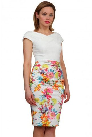White Flower Dress (sizes Small -XLarge)A Small Cap Sleeve And A Little Ruching On The Waist Makes This Dress Flattering On The Figure.