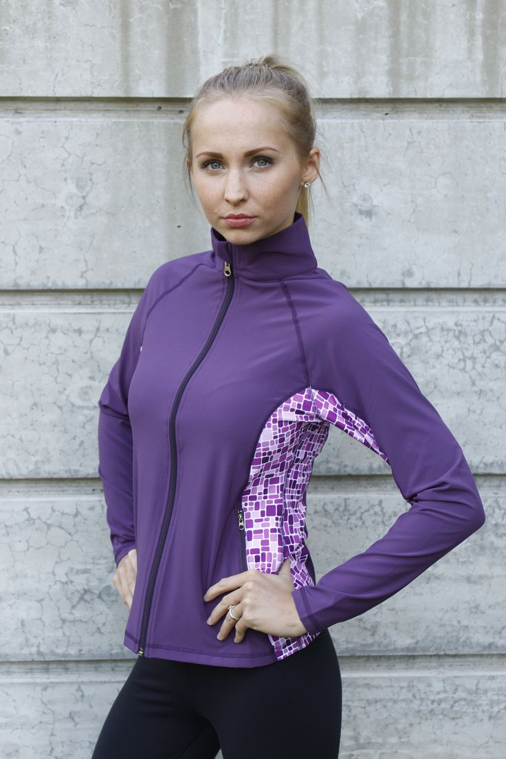 Callie Jacket in Plum - Woven fabric, light weight,