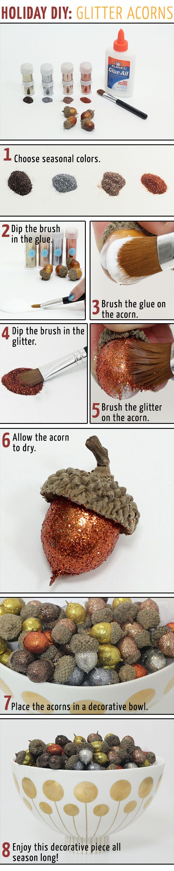 Holiday DIY: Glitter Acorns