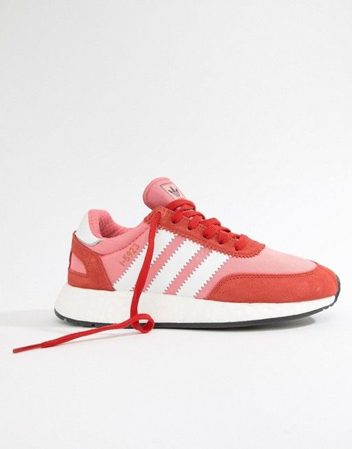 ee54e0c02ad87a adidas Originals I-5923 Runner Trainers In Red And Pink in 2019 ...