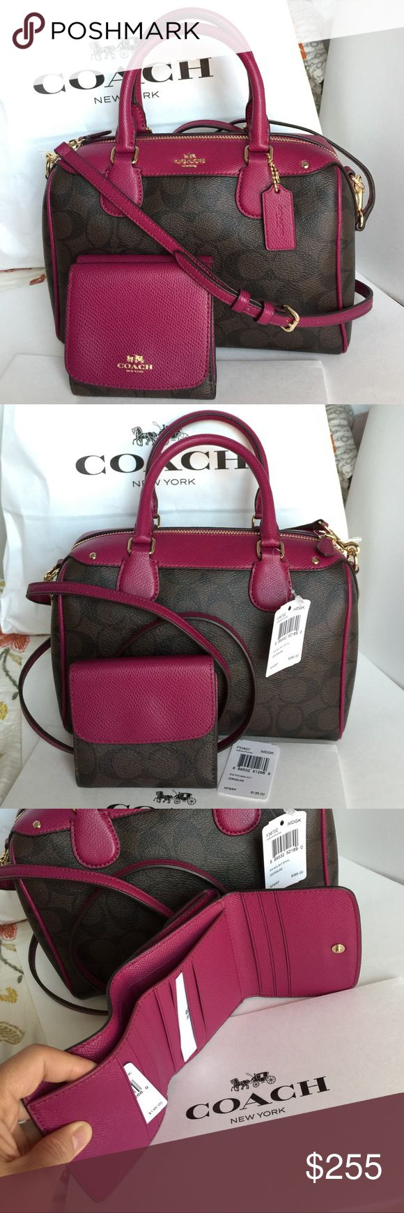 Coach Purse&Wallet 100% Authentic Coach Purse and Wallet, both brand new with tag! Coach Bags Crossbody Bags