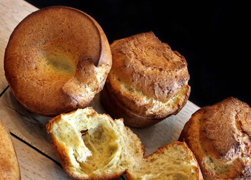 Herbed Spelt Popovers - bring back a whole grain nastalgic roll