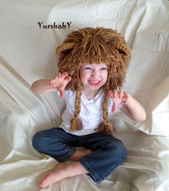 Boy Hats Lion Wig Gift Ideas for Boys Lion Costume by YumbabY, $29.95