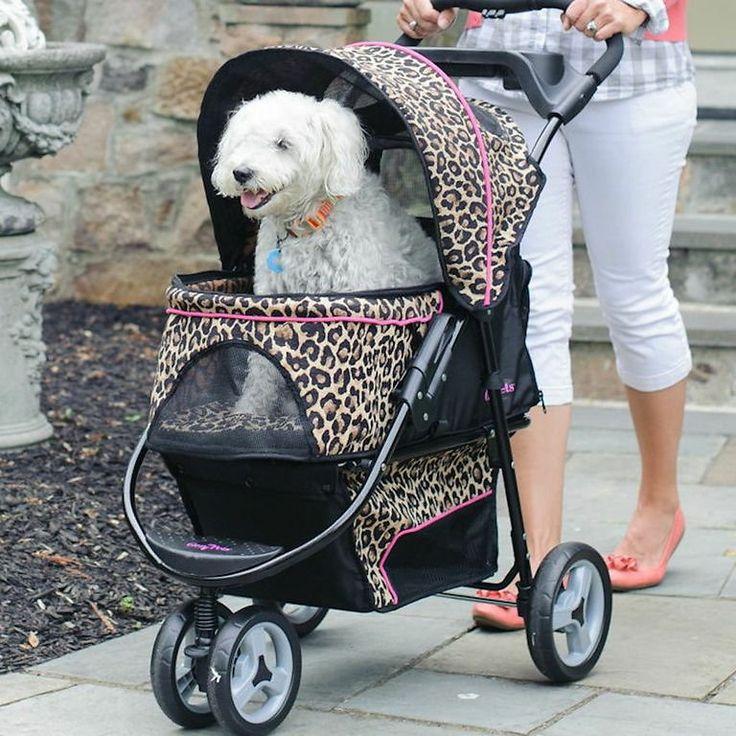 Gen7Pets Promenade Pet Stroller, Cheetah Dog