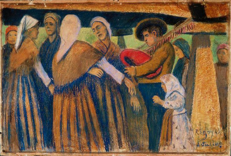"""""""Danza lenta, Asturias"""" Darío de Regoyos"""