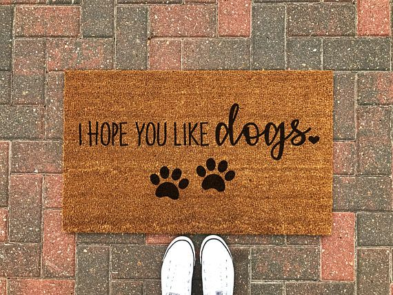 Hope You Like Dogs Doormat Dog Doormat Dog Gift Dog Welcome