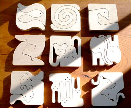 The animal puzzle range is made of attractive Finnish birchwood from managed forests and can be painted as the child's fantasy dictates.