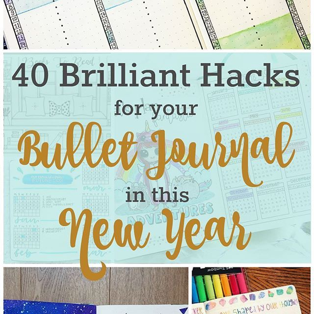 2018 is just around the corner. Are you ready? I've put together a huge resource of bullet journal hacks and inspiration to help you get your new (or old) bullet journal set up for the new year (link in bio). . . . There are book trackers, future logs, wo