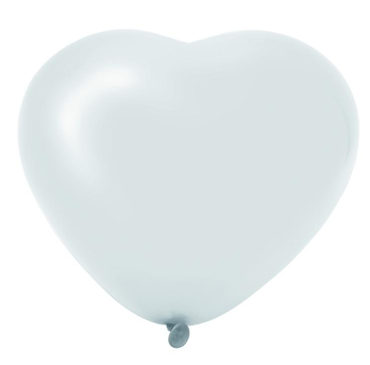 Hartjes balonnen WIT