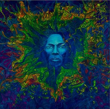 "Saatchi Art Artist Lola Lonli; Painting, ""Miles. Aura. Into creation"" #art"
