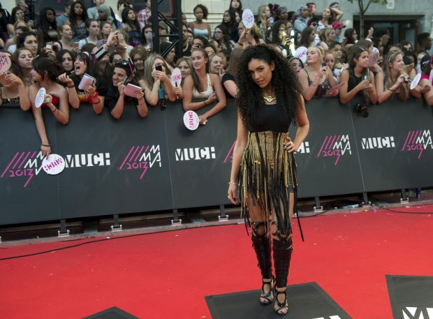 The Gorgeous Mia Martina in Parasuco couture at the Much Music Video awards