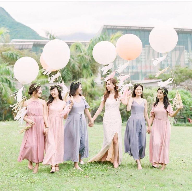 #バルーン #風船 #フォトブース #結婚式   #ブライズメイド