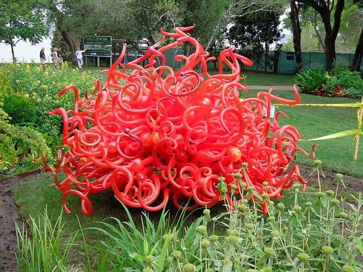 Chihuly, I got to see his  installation in the Dallas botanical gardens and it was AMAZING