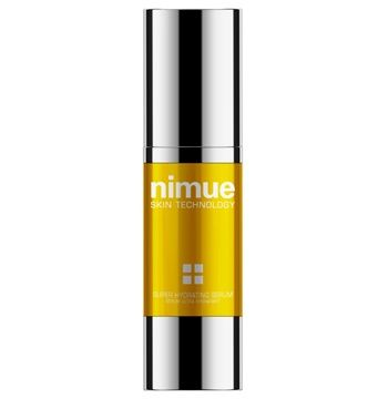 Super Hydrating Serum. A booster treatment in a nanotechnology delivery system for additional hydration and anti ageing support in all skin types and conditions. Phytoceutical and biotechnological ingredients in a light fresh gel concentrate delivers immediate moisture to saturate and refresh the skin and continual diffusion provides long term hydration. 30ml. Nimue Skin Technology.