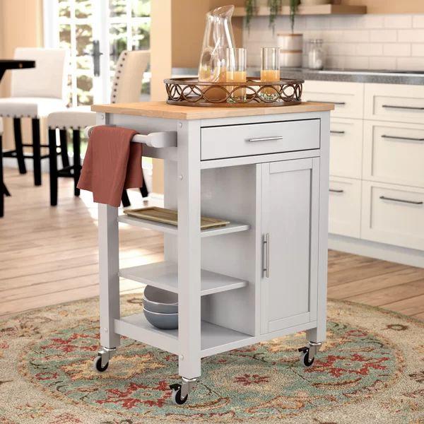 Hiro Kitchen Cart   Kitchen cart. Mobile kitchen island. Contemporary kitchen island