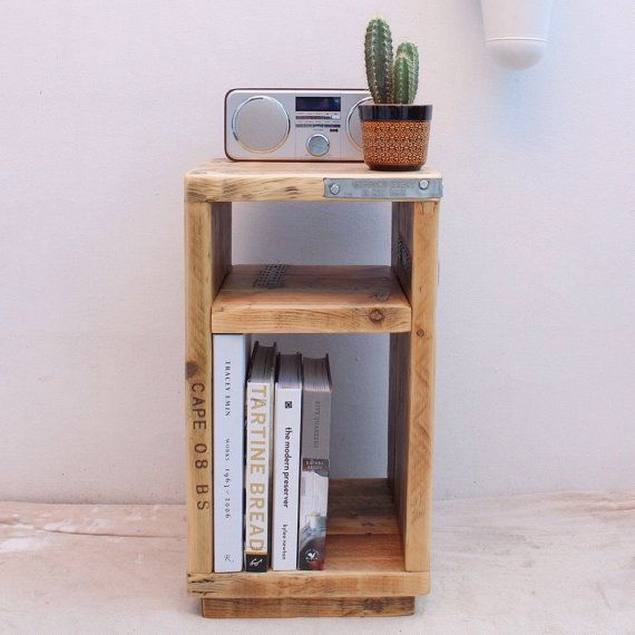 + best ideas about Reclaimed wood side table on Pinterest