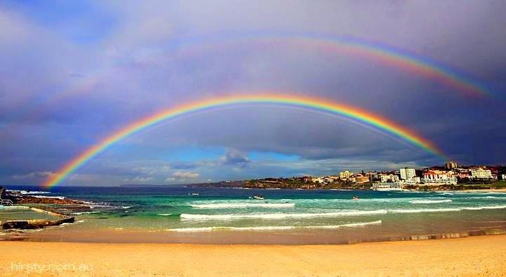 Double Rainbow - Bondi Beach - Australia | Waves ...