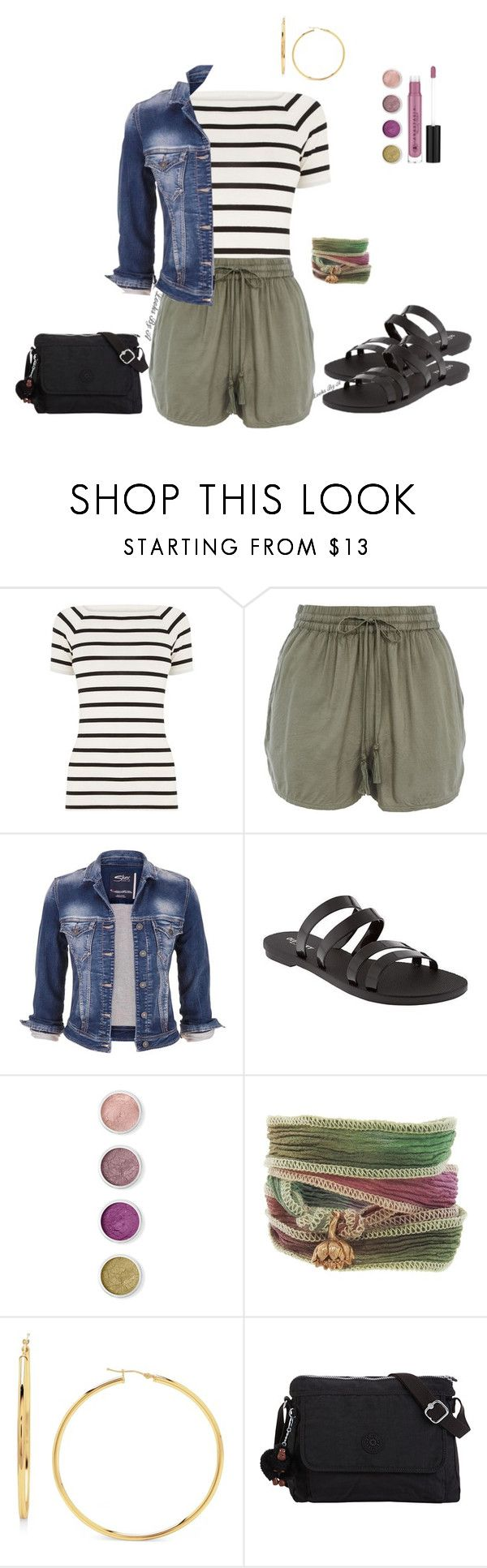 """""""Stripes and comfort"""" by looksbya ❤ liked on Polyvore featuring Oasis, maurices, Old Navy, Terre Mère, Catherine Michiels, Kipling and Anastasia Beverly Hills"""