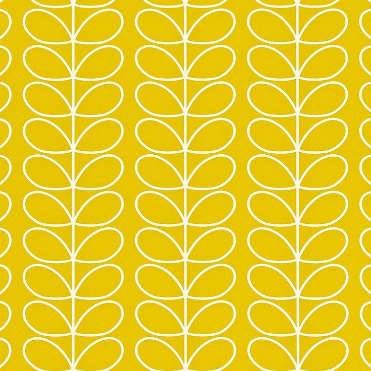 Orla Kiely: Orla Kiely Linear Stem print wallpaper, available in two colourways. Hanging instructions on packaging.    Repeat: 4.2cm    Width: 52cm  Length: 10.05m    Batch: Poppy #AA             Mimosa #AF               **Please note that wallpaper is non refundable once opened, or hung on the wall.