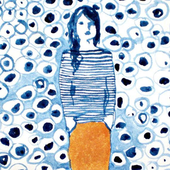 Big Girl Pants limited edition giclee print 2/50 by rowenamurillo, $22.00. This one reminds me that sometimes I just have to do what I have to do.