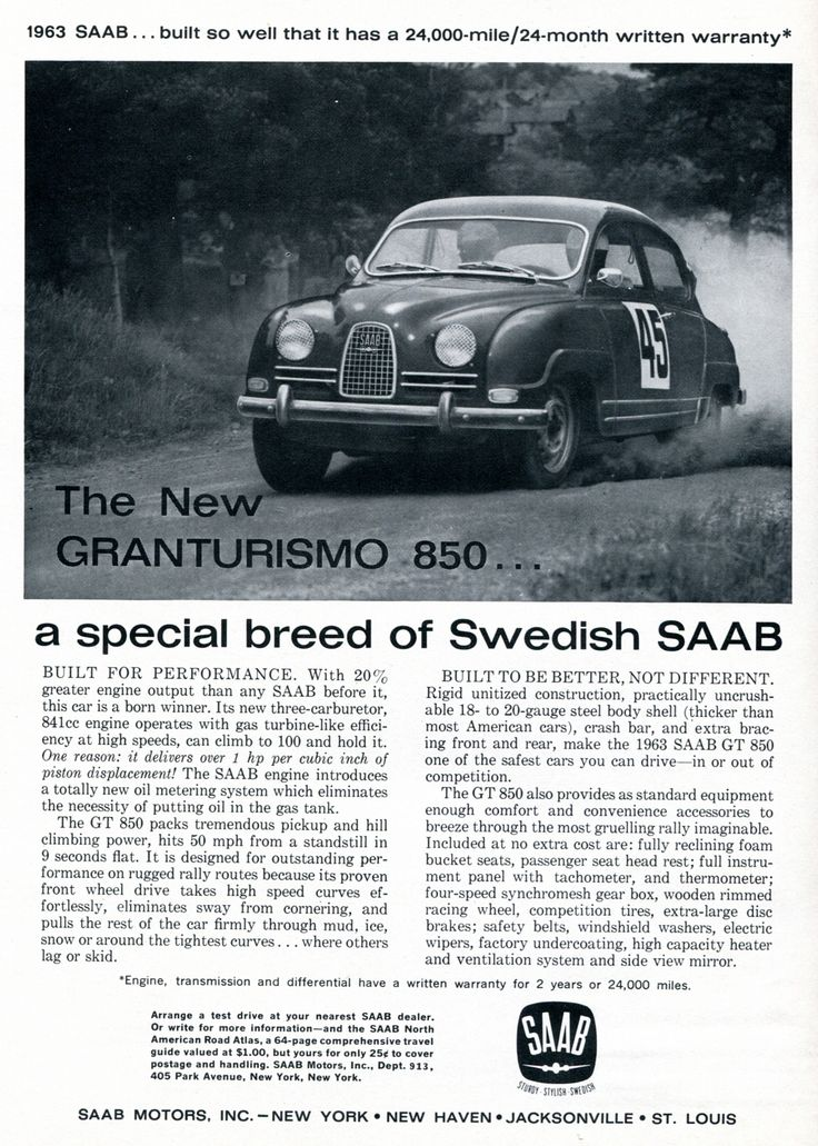 1963 Saab Gran Turismo 850