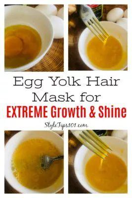 Egg Yolk Hair Masks for Hair Progress & Shine
