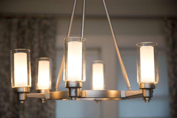 Living Room | Circolo 6 Light Chandelier in Brushed Nickel | KICHLER LIGHTING