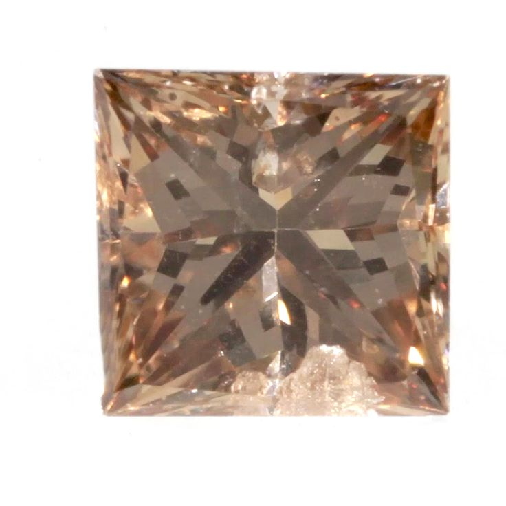 0.12 ctw Champagne -C5 SI2 Clarity 2.79x2.74x1.94 mm Princess Cut Loose Diamond