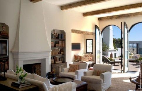 white stucco fireplace - Google Search