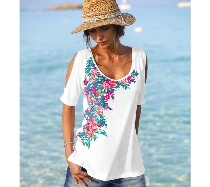 Tričko s odhalenými ramenami | blancheporte.sk #blancheporte #blancheporteSK #blancheporte_sk #spring #summer #wear