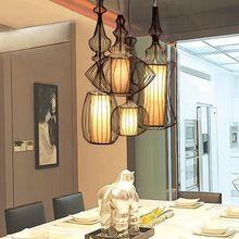 Suspension Leuchte Leuchte Pendelleuchten Otis Lampe Lampen Kurze Moderne Kombination Vogelkäfig Pendelleuchte Restaurant Treppen(China (Mainland))