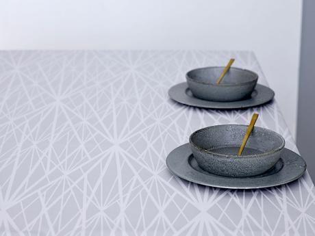 Södahl Diamond grid Akryl m.anti 140 cm lys grå 140x300