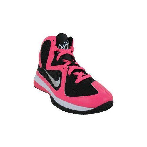 2e37cde780a Nike Kids s NIKE LEBRON 9 (PS) BASKETBALL SHOES 2 (LASER PINK METALLIC  SILVER BLACK)