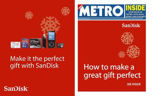Metro paper - SanDisk Christmas wrap - print design