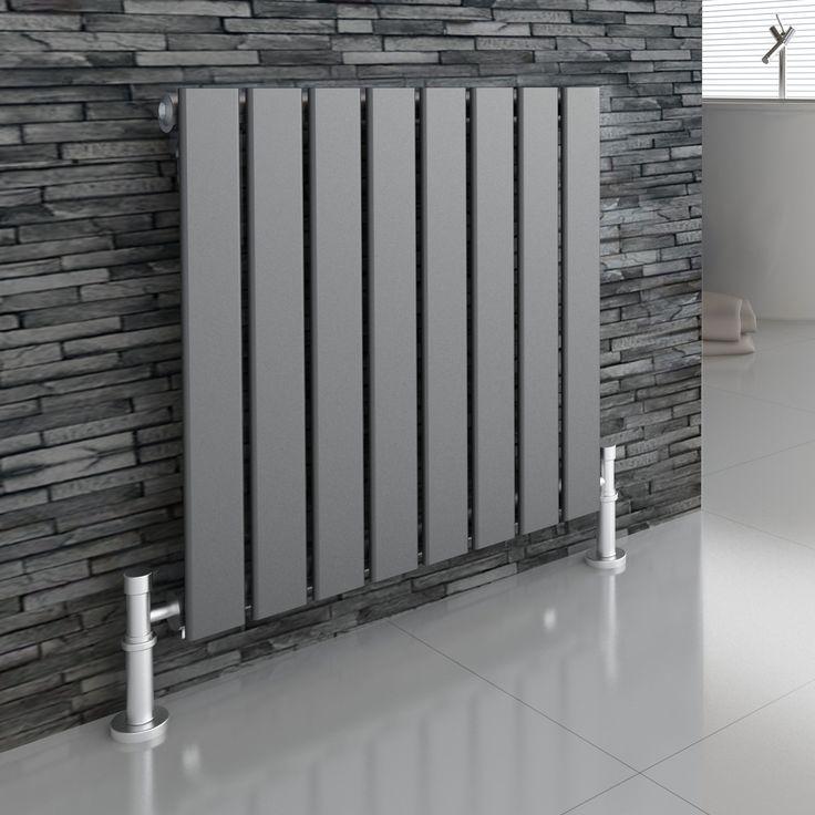 IRIS Anthracite 600x604 Horizontal Flat Panel Designer Radiator Central  Heating