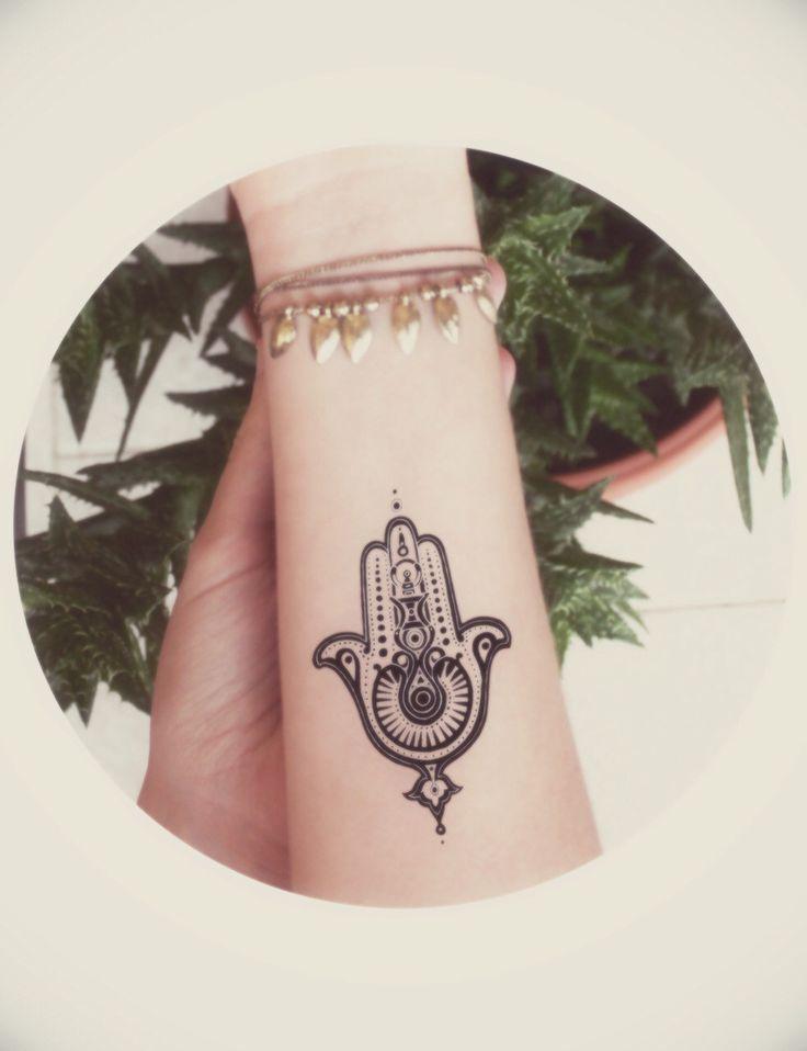 Latest Hamsa Tattoo Design For Forearm