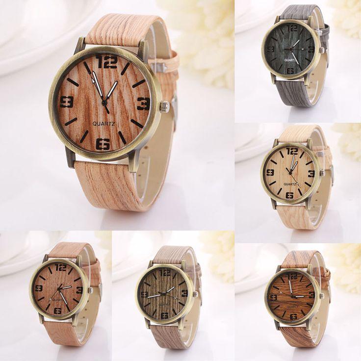 2016 Hot Sale Vintage Wood Grain Watches Fashion Women Quartz Watch Wristwatches Gift Good-looking AP 2 Who like it ?  #shop #beauty #Woman's fashion #Products #Watch