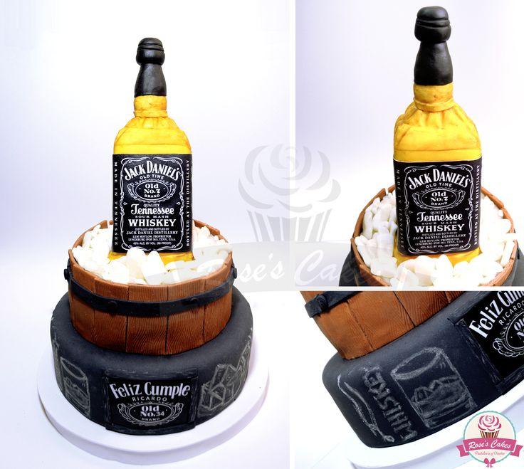 Jack Daniel's torta fondant #whiskey #cake