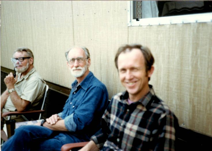 John Ingram, Rod O'Keefe and Rod's son Michael - Date Unknown