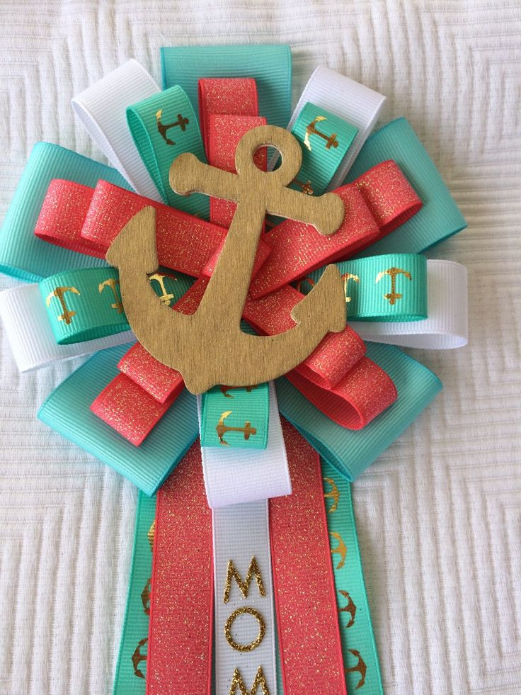 A personal favorite from my Etsy shop https://www.etsy.com/listing/231313678/gold-nautical-teal-and-coral-baby-shower