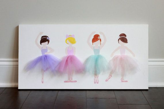 Ballerina Decor Ballerina Nursery Decor girl by LetsPretendArt