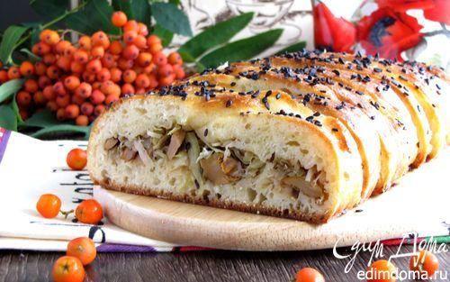 Летний пирог с лисичками и капустой | Кулинарные рецепты от «Едим дома!»
