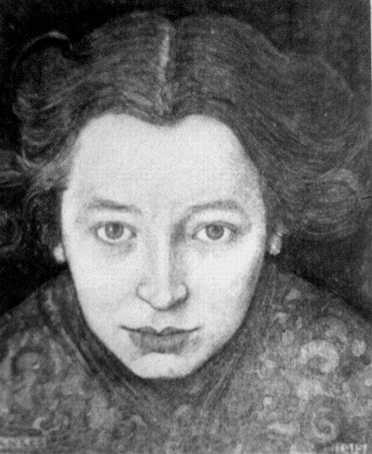 Annie Mankes-Zernike, 1916 - Jan Mankes   the artist's wife   Dorpsarchief van De Knipe   Jan Mankes 04