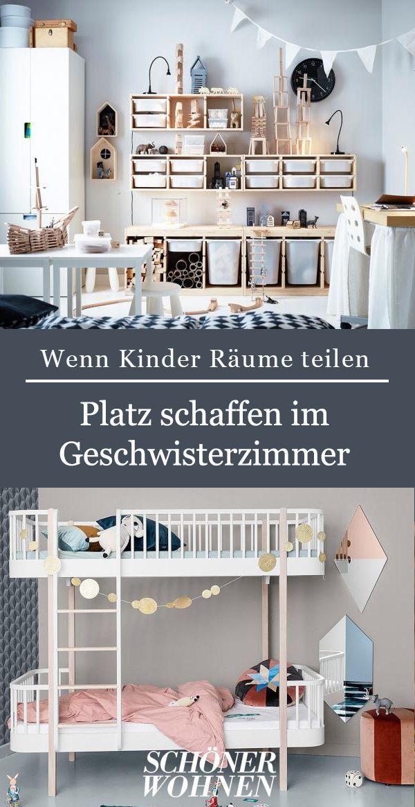 Das Leidige Thema Stauraum Und Platz Im Geschwisterzimmer Bild 3 Geschwisterzimmer Babyzimmer Dekor Kinder Zimmer
