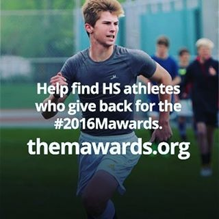 Cool campaign with @missionathlete - when you nominate a high school athlete who shows leadership by giving back to their community for the M Awards, $5 will automatically go to @champions4kids an organization that provides resources for homeless high schoolers. AND the winners of the M awards get grants for causes they care about. Love it! #2016mawards #goodx